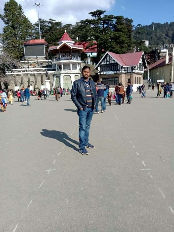 famous Mall Road in Shimla
