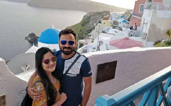 a private city tour of Santorini