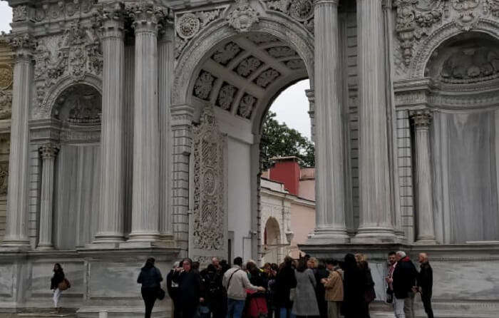 Dolmabahce is a beautiful palace
