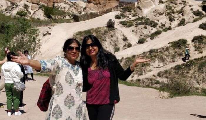 the soft hills of Cappadocia
