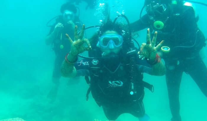 had amazing time underwater