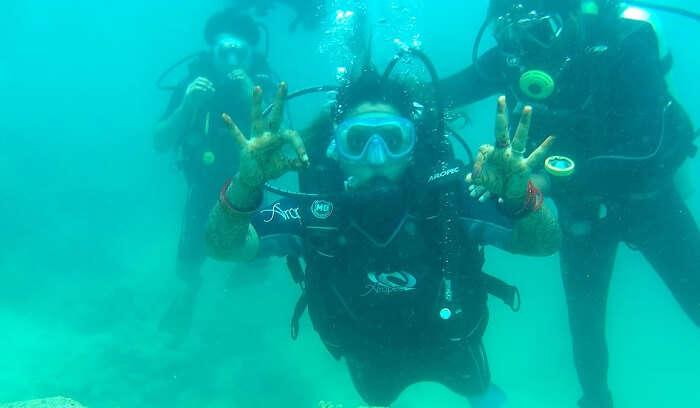 had amazing time underwater