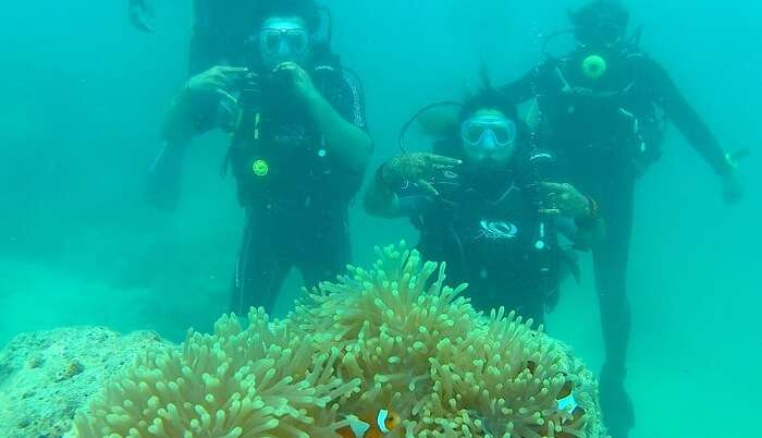 enjoyed being underwater