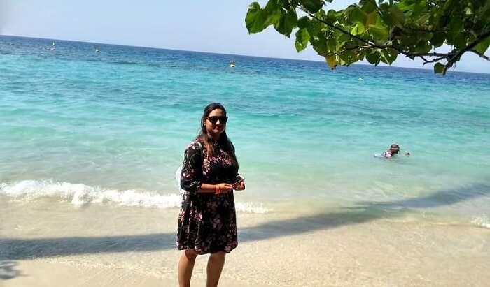 on island