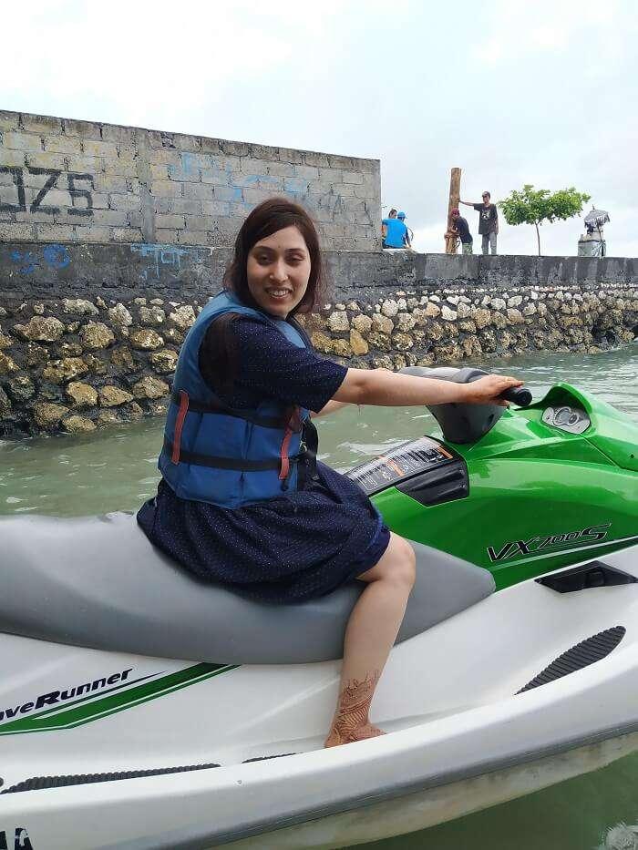 enjoyed a banana boat ride