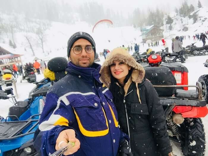 had a great fun in solang valley