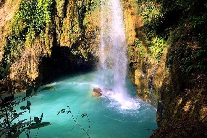 Inambakan Falls in Cebu, Philippines