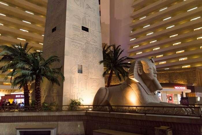 Interior of Luxor hotel Las Vegas