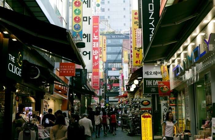 Myeongdong In Seoul