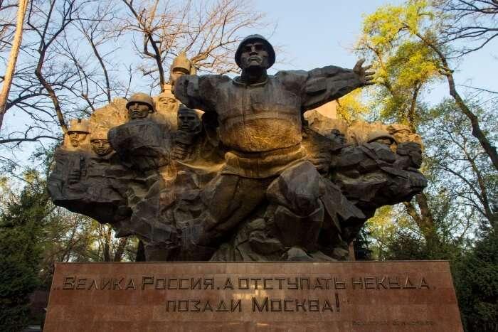 The memorial park of Panfilov 28 guardsmen