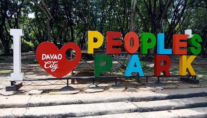 The People's Park Logo at the People's Park Davao