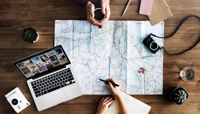 Travel Trip Map
