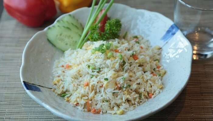 Philippines Fried Rice Food Meat Chopped Exotic