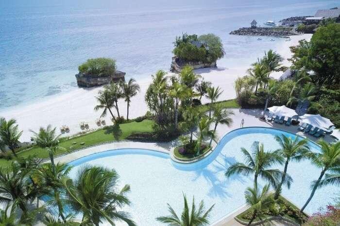 Shangri La Resort's Beachfront