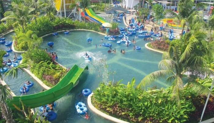 aerial of waterpark in bali