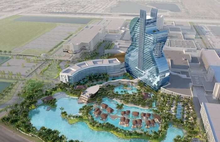 View of the guitar hotel project