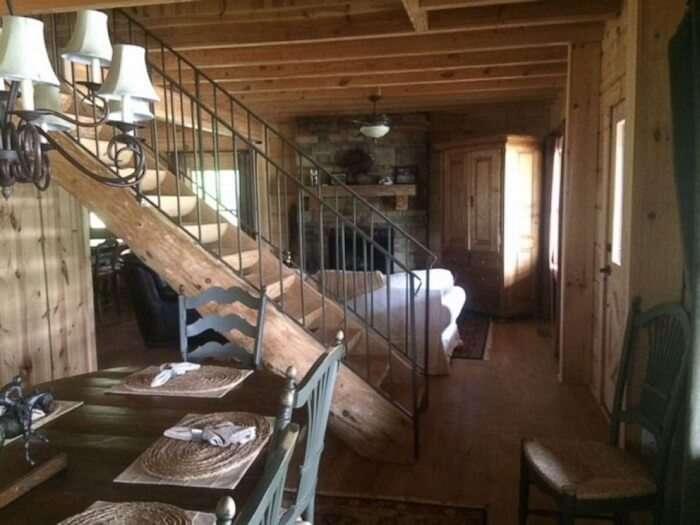 bedroom in tony stark cabin