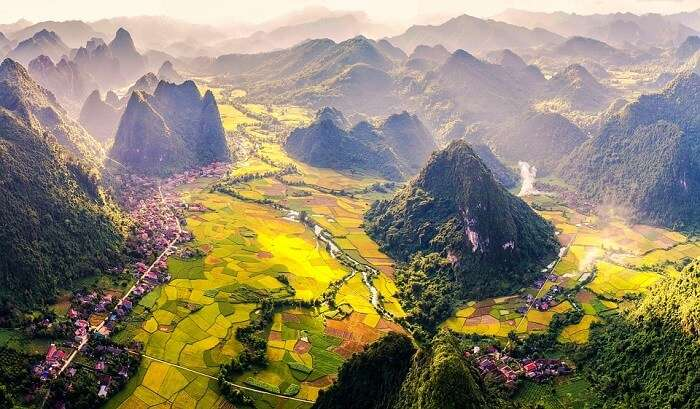 aerial view vietnam