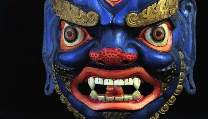 blue Sikkimese mask