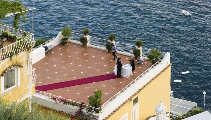 Wedding Couple In Amalfi Coast