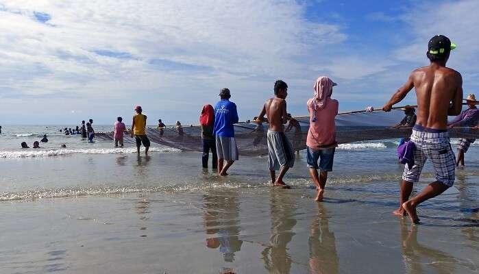 Beserah Beach in Malaysia