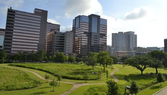 Downtown City Modern Skyline Texas Houston