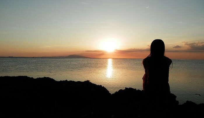 Sunset Burot Maritime Landscape Islands Sea