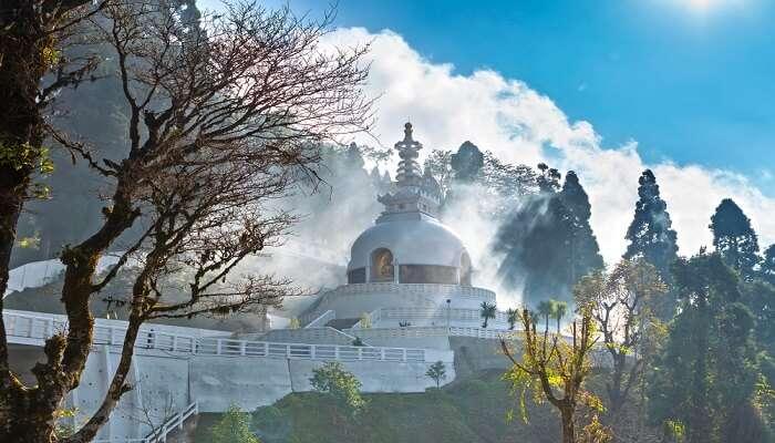 famous Pagoda in Darjeeling
