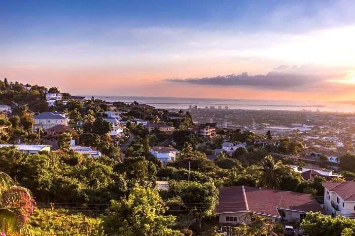 sunset view of Jamaica