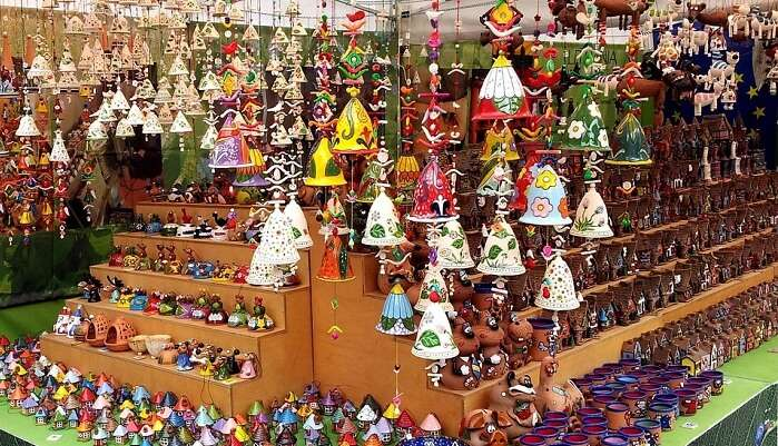 Market Colorful Color Ornaments Stall Items