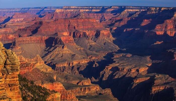 dawn on the S rim of the Grand Canyon