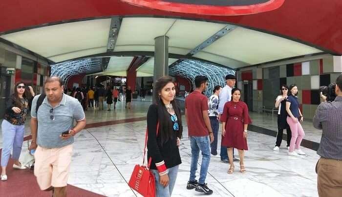 went to Ferrari World Theme Park