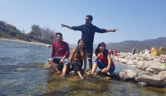 the Kosi River ghat