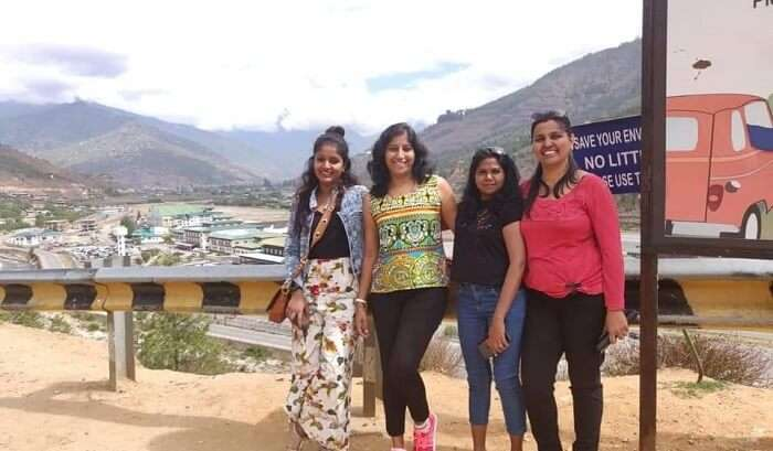 visited to the Bhutan with friends