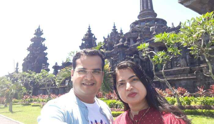 visited to the famous bali temple