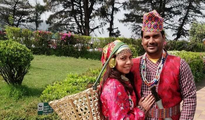 Me and My Wife At Traditional Dress