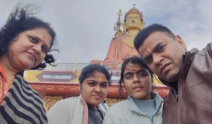 visited to the temple