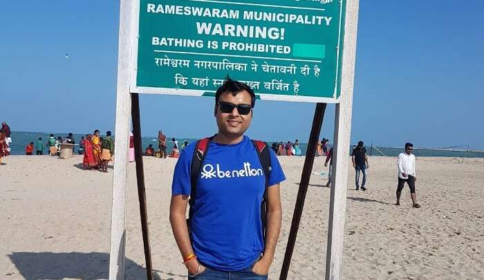 visited to the Rameshwaram temple and beaches