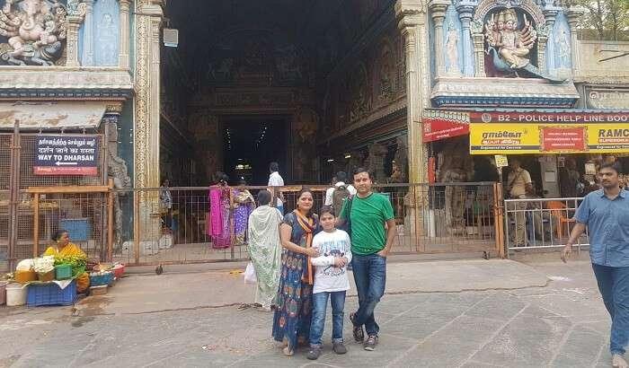 visited to Kumari Amman temple