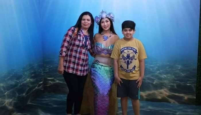 clicked picture with the mermaid