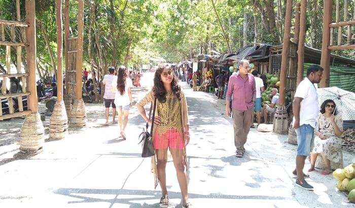 roaming on the local street of Andaman