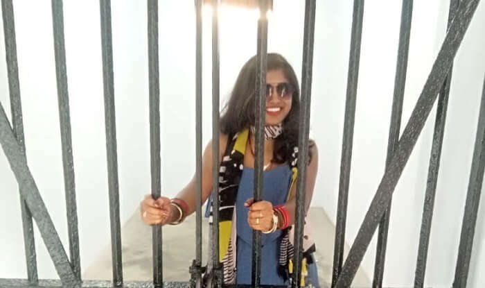 clicked the pictures behind the bars