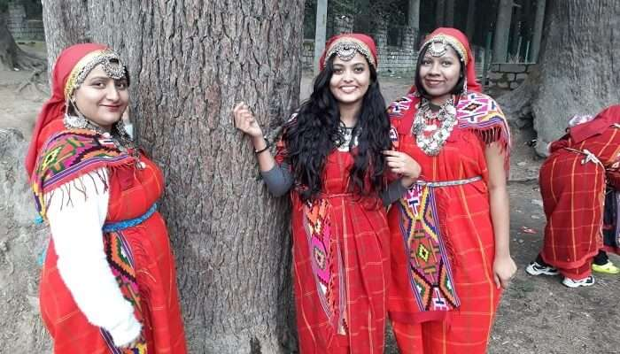 dressed up in traditional attire of Manali