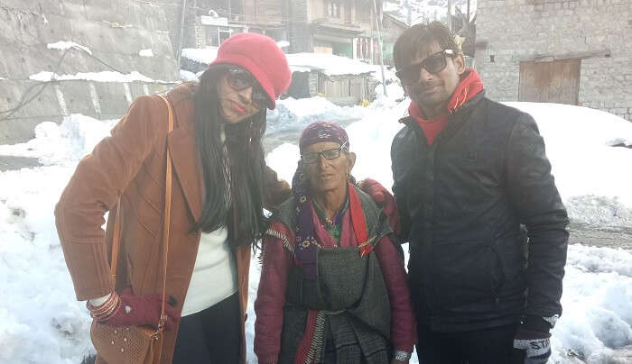 enjoyed the in winter weather in manali