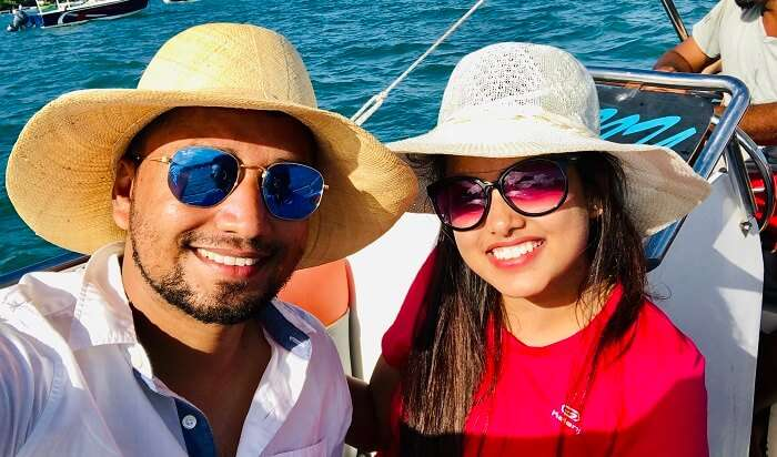 enjoy the time while on boat