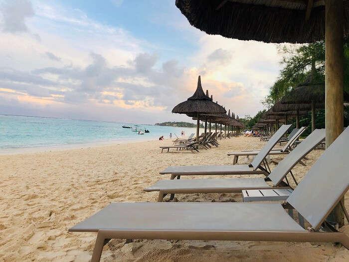 sitting in the beach