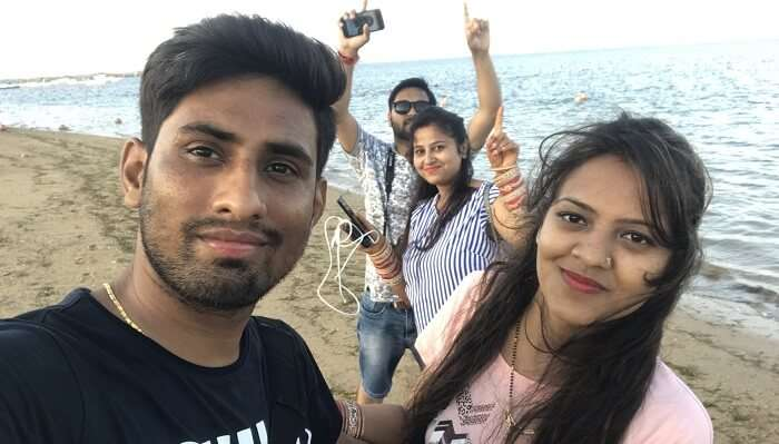 enjoyed the vacation with friends
