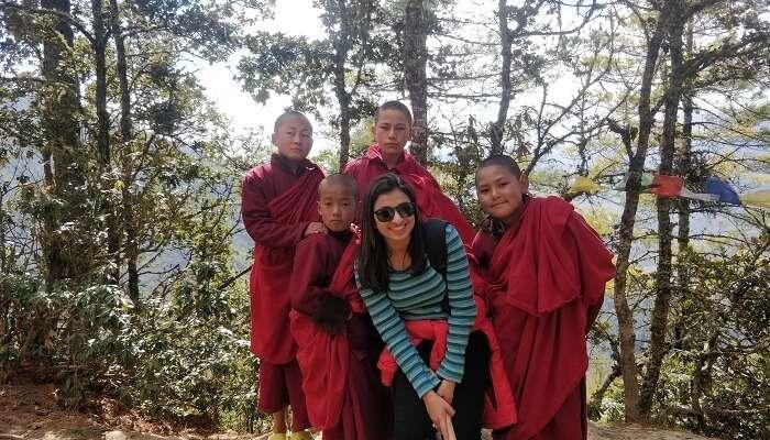 trekking to the Paro Taktsang monastery