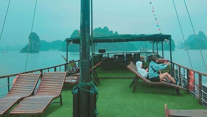 a cruise journey in the Halong Bay