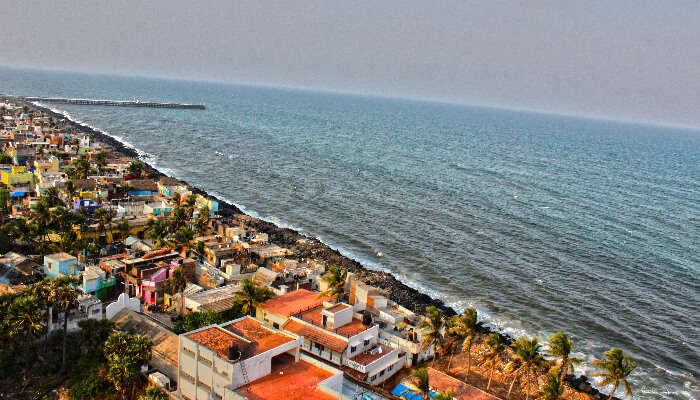 A coastal area in Pondicherry